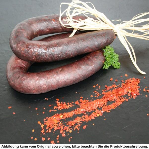 luftgetrocknete Griebenwurst mit Chili