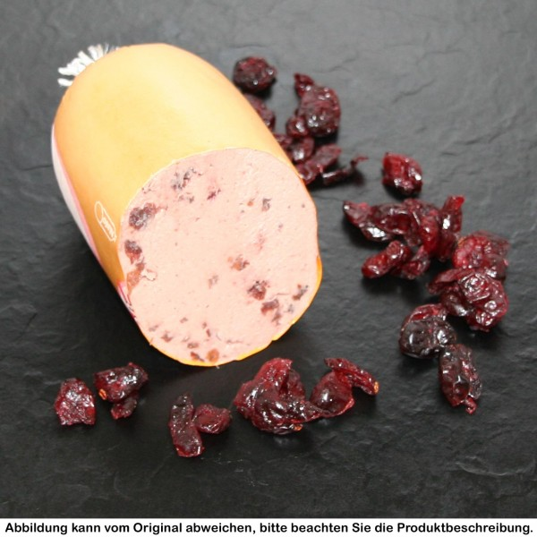 Delikatessleberwurst mit Cranberry