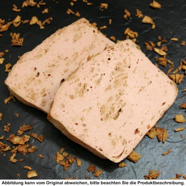 Röstzwiebelfleischkäse in Vesperscheiben, je Scheibe ca. 120g