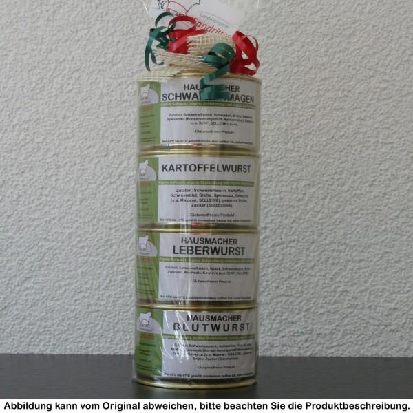 Hausmacher Dosenturm mit Eisbein (400g Dosen)