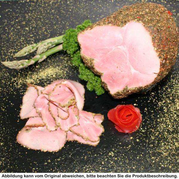 Knoblauchpfefferschinken vom Strohschwein