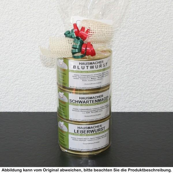 Hausmacher Dosenturm ohne Kartoffelwurst (400g Dosen)