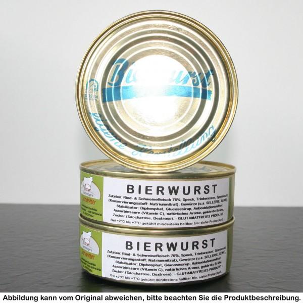 Bierwurst in der Dose
