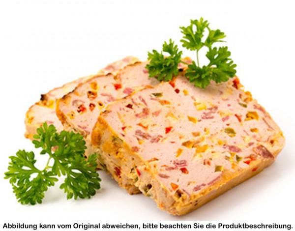 Pizzafleischkäse in Vesperscheiben, je Scheibe ca. 120g
